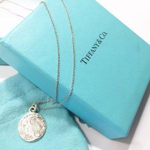 """Tiffany&Co 925 Silver Clinique Flower Pendant 18"""""""
